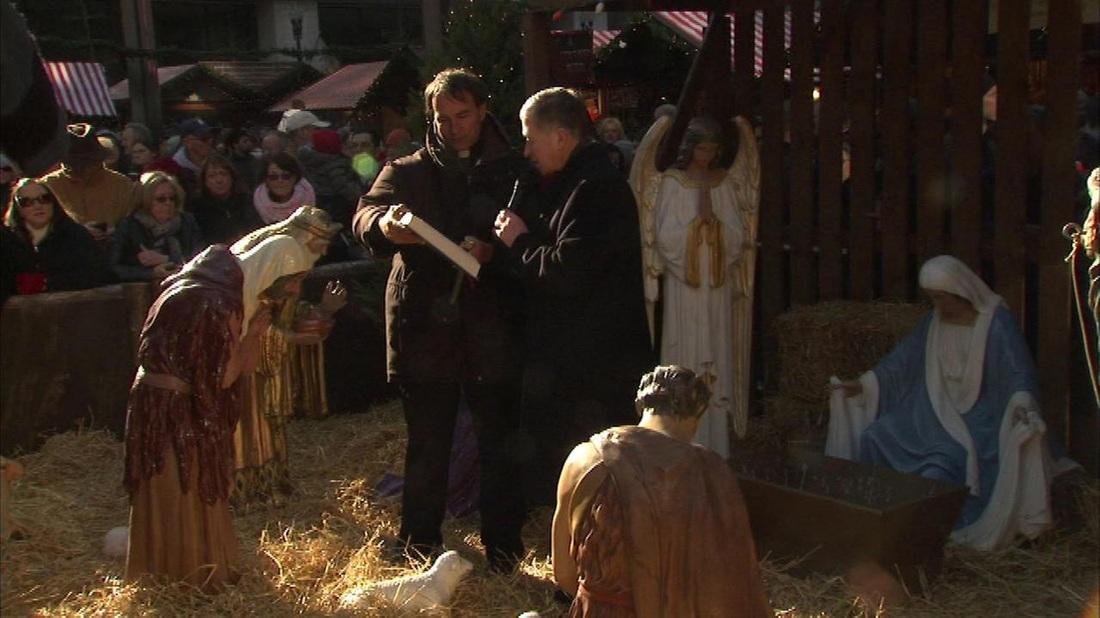 Archbishop Blase Cupich Leads Nativity Scene Blessing